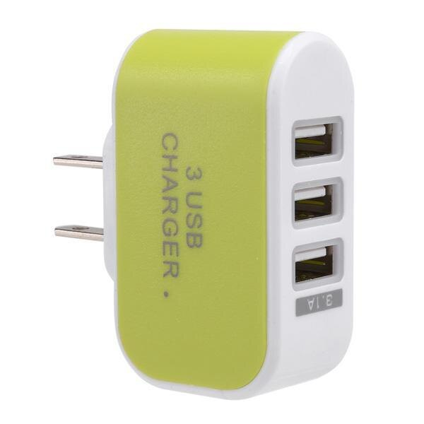 3-Port USB Wall Home Travel AC Charger Adapter for Phone 3