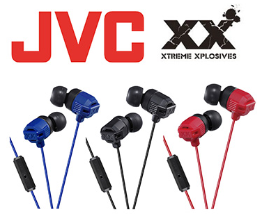 JVC HA-FR202 重低音入耳式耳機附線控麥克風 (黑、藍、紅)
