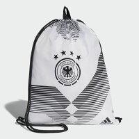 Adidas愛迪達,adidas愛迪達後背包推薦到ADIDAS GERMANY GYM BAG 後背包 束口袋 德國 世足賽 三條線 黑 白【運動世界】CF4939
