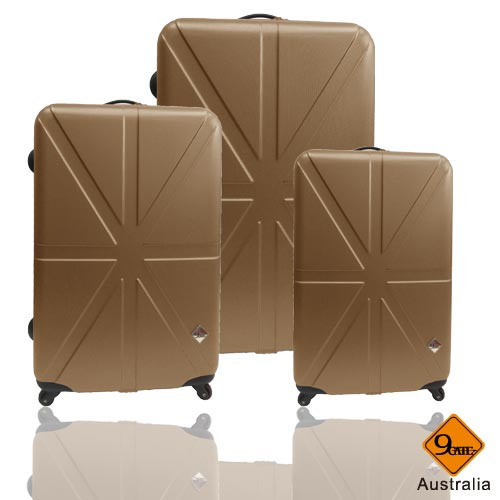 預購1021陸續出貨✈Gate9英倫系列ABS霧面輕硬殼三件組旅行箱 / 行李箱 1