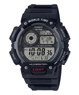 CASIO卡西歐AE-1400WH-1A長效電池經典地圖數位腕錶