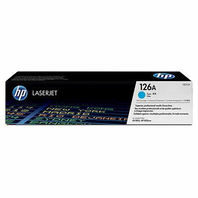 【HP 碳粉匣】HP CE311A/126A 原廠藍色碳粉匣