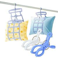日本SANADA多段式枕頭曬架4包裝送6入曬竿夾 0