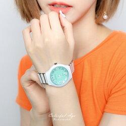 手錶 繽紛馬卡龍陶瓷腕錶【NE1984】 柒彩年代