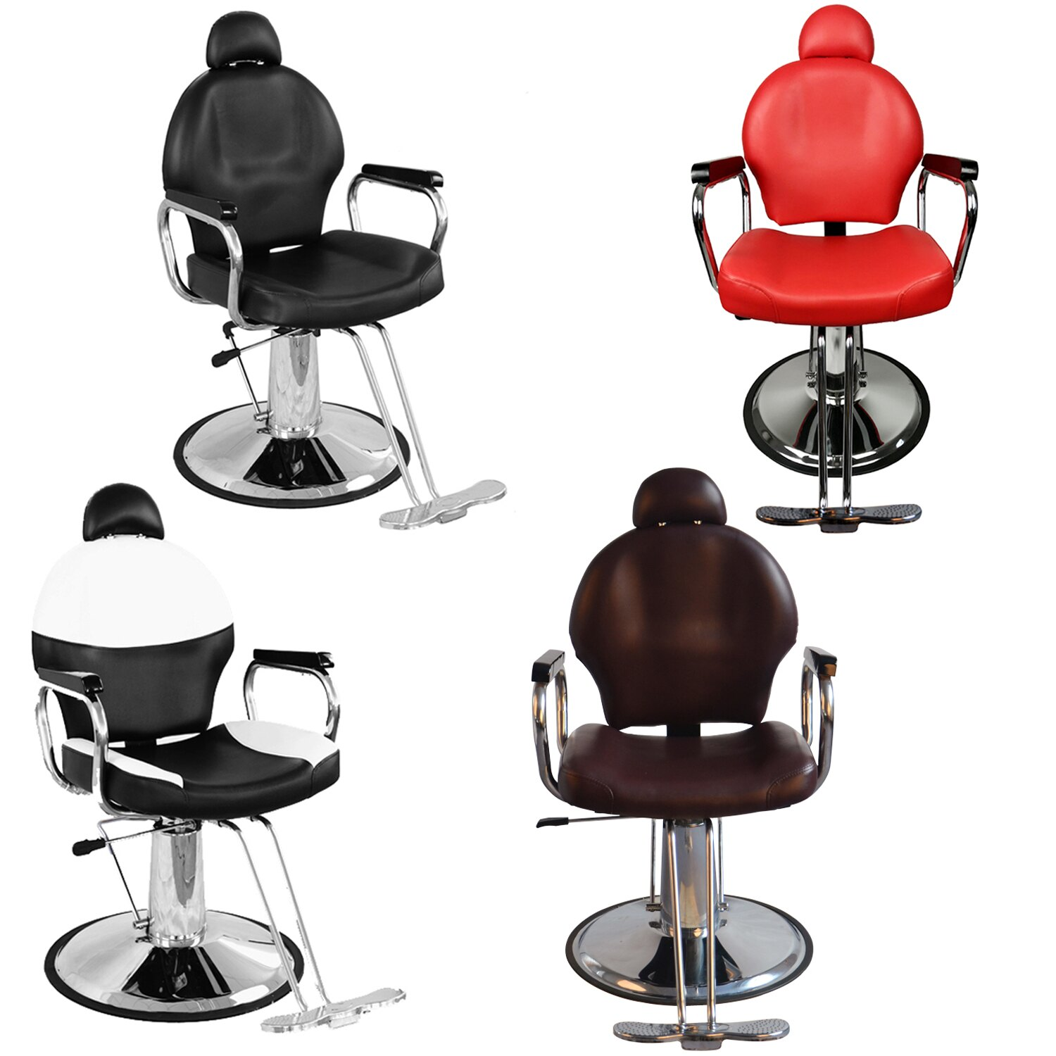 Amazing Barberpub Reclining Hydraulic Barber Chair Salon Styling Beauty Spa Shampoo 9838 Download Free Architecture Designs Jebrpmadebymaigaardcom