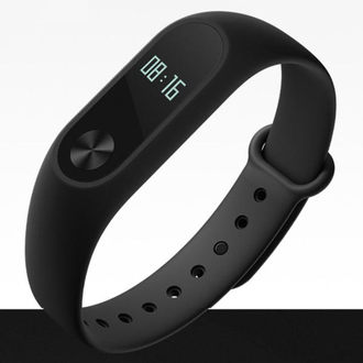 ➤ 原廠現貨【和信嘉】小米手環 2代 黑色腕帶 液晶螢幕 心率檢測 藍牙 防水穿戴