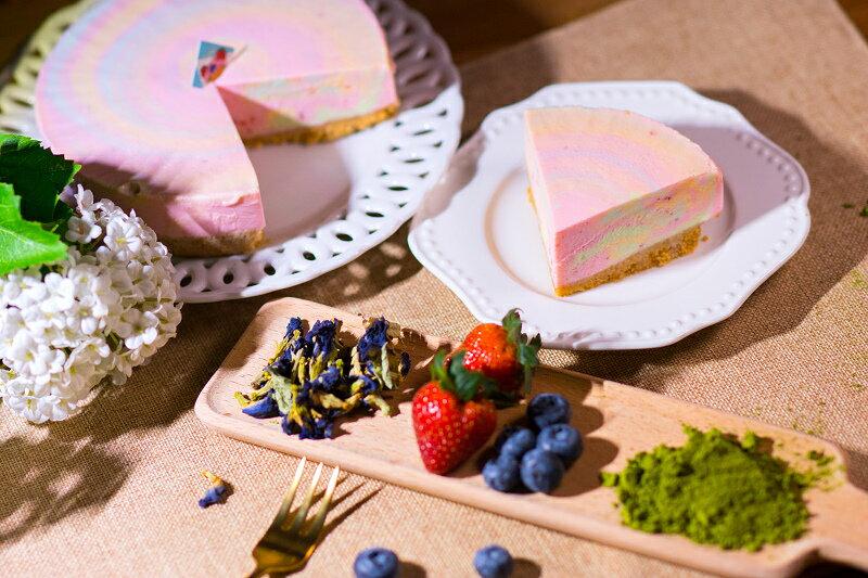 ★感謝綜藝大熱門★推薦!網友激推彩虹生乳酪在這>>犒賞大餐好咖彩虹生乳酪(6吋) 天然食材原色-生乳酪彩虹蛋糕 3