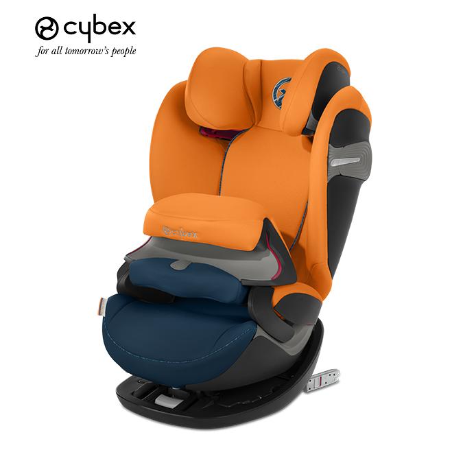 德國【Cybex】PALLAS S-FIX汽車安全座椅 (9個月~12歲)橘藍色