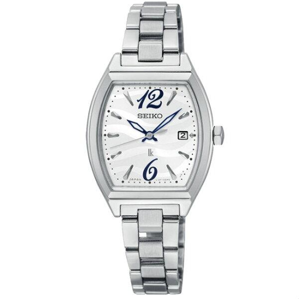 Seiko精工錶Lukia系列V137-0CE0M(SUT359J1)熱愛生活銀色款時尚太陽能腕錶26mm