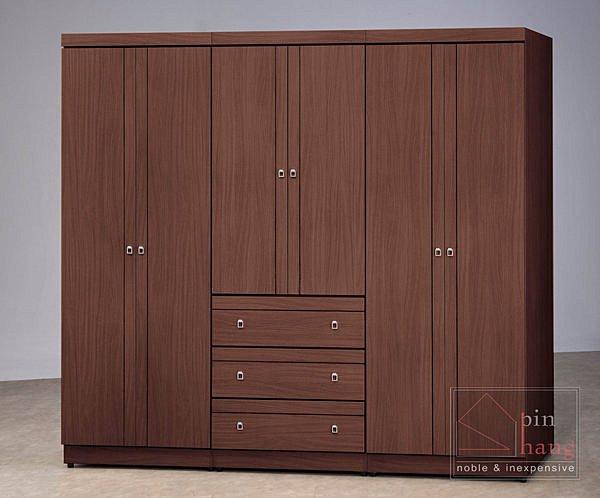 【尚品傢俱】CF-372 胡桃 3x7尺 衣櫥