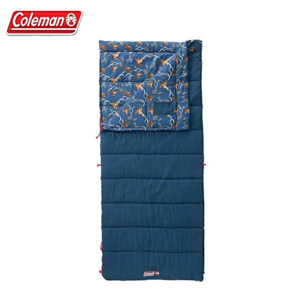 【露營趣】ColemanCM-32341COZYII海軍藍睡袋C10信封型睡袋全開式睡袋化纖睡袋纖維睡袋露營睡袋可拼接