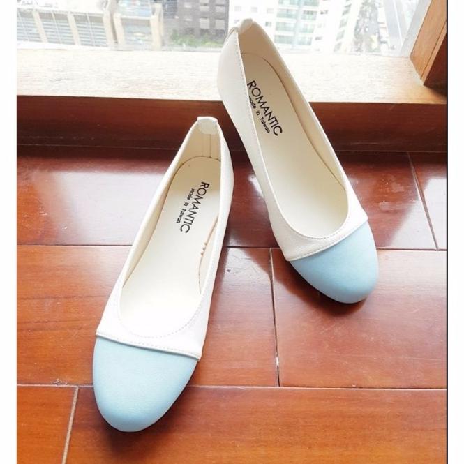 MIT台灣製 夏季雙拼色 素雅娃娃鞋