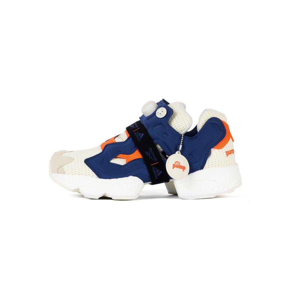 【日本海外代購】REEBOK 愛迪達 PUMP FURY X BOOST 爆米花 充氣 杏色 白藍 粉橘 繃帶 慢跑 男女鞋 FU9240