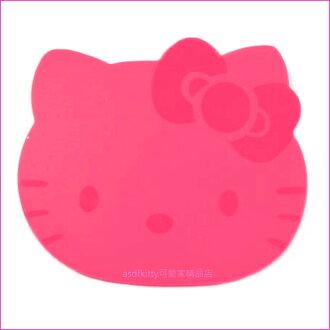 asdfkitty可愛家☆KITTY造型印章墊/蓋章專用軟墊-大小章都適用-日本正版商品
