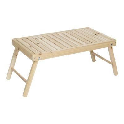 露營戶外居家電腦桌床上用木製懶人桌可折疊小書桌(到貨)