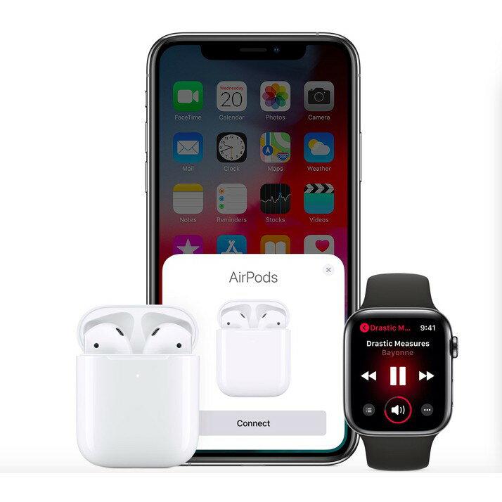 Apple AirPods全新未拆 藍芽無線耳機 第二代有線充電盒 加購正版保護殼有優惠 原廠藍牙耳機 台灣公司貨《維克精選》 2