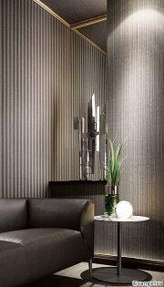高品質編織壁紙灰色條紋SGA-202