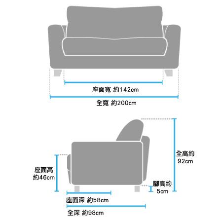 ◎(OUTLET)半皮3人用沙發 STONE BK 福利品 NITORI宜得利家居 9