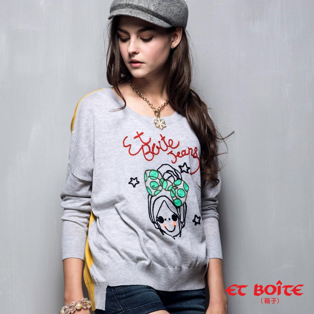 【888元優惠↘】ET BOiTE 箱子  Amour娃娃針織衫(紅 / 灰) - 限時優惠好康折扣