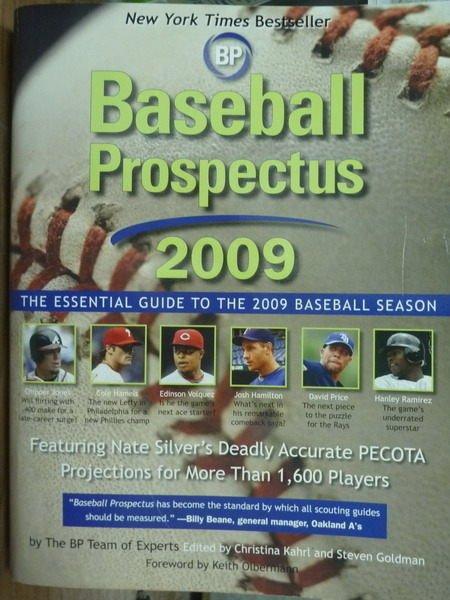 ~書寶 書T9/體育_QFH~Baseball Prospectus 2009