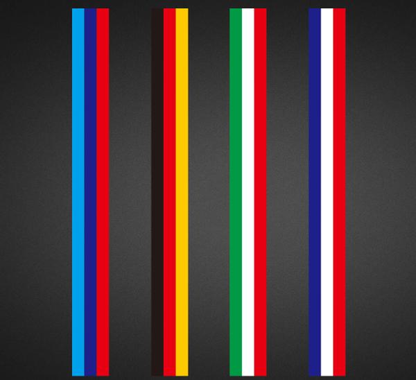 美琪個性汽車三色拉花車貼貼膜BMW德國國旗款