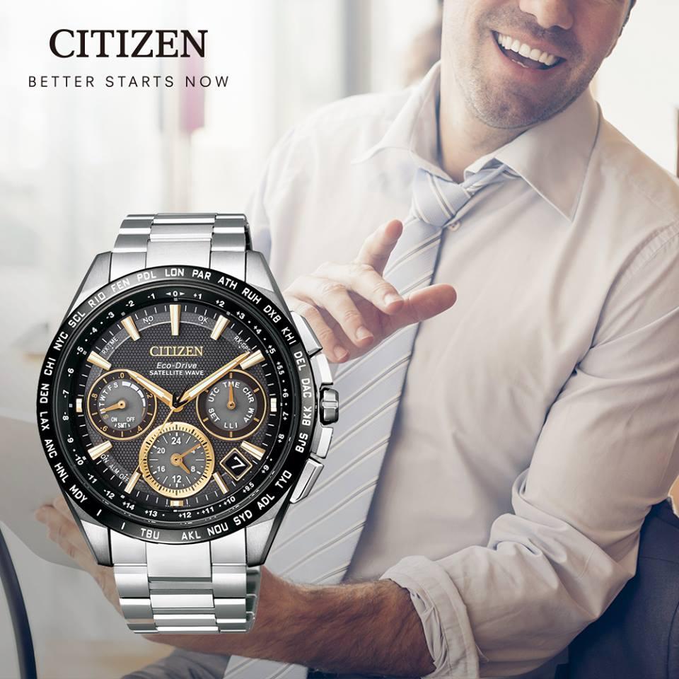 清水鐘錶 Citizen 星辰 Eco-Drive 光動能 宇宙航道GPS衛星鈦金屬計時腕錶 CC9015-54F 44mm