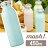 【日本mosh!】薄荷藍 牛奶系保溫瓶 (450ml) 免運特殺 0