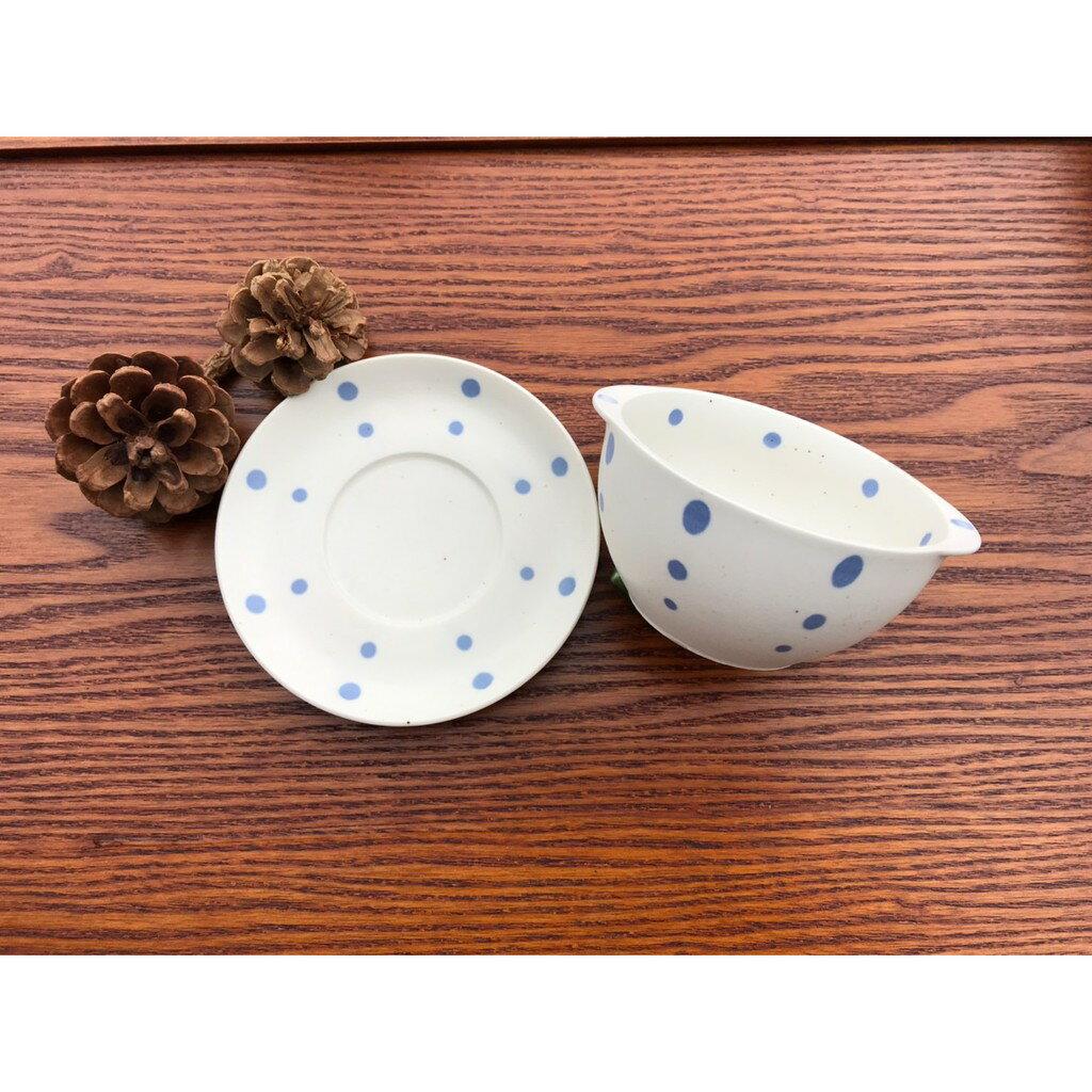 小糖瓷⎥日本製 雙耳陶味點點碗碟組 3