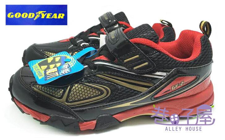 【巷子屋】GOODYEAR 固特異 飆速快感 男童全場地專業多功能競速鞋 [48620] 黑紅 超值價$498