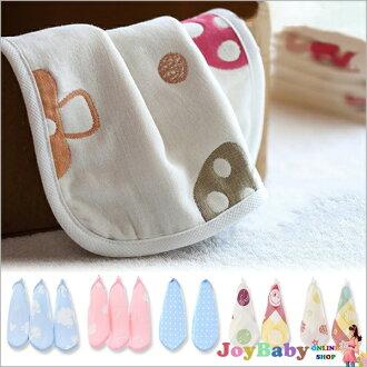 口水巾小方巾六層紗布巾蘑菇兒童毛巾卡通兒童手帕日本品質高密度七彩餵奶巾【JoyBaby】
