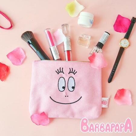 正版 泡泡先生大臉帆布化妝包 帆布 化妝包 收納包 收納袋 Barbapapa【N102156】