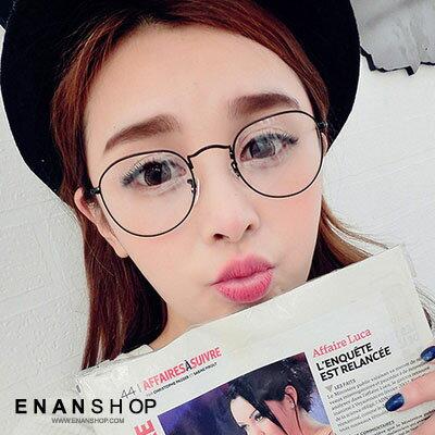 惡南宅急店~0027M~眼鏡框~送眼鏡盒、拭鏡布~ 弧形眼鏡 平框眼鏡 復古文青 鏡架 黑