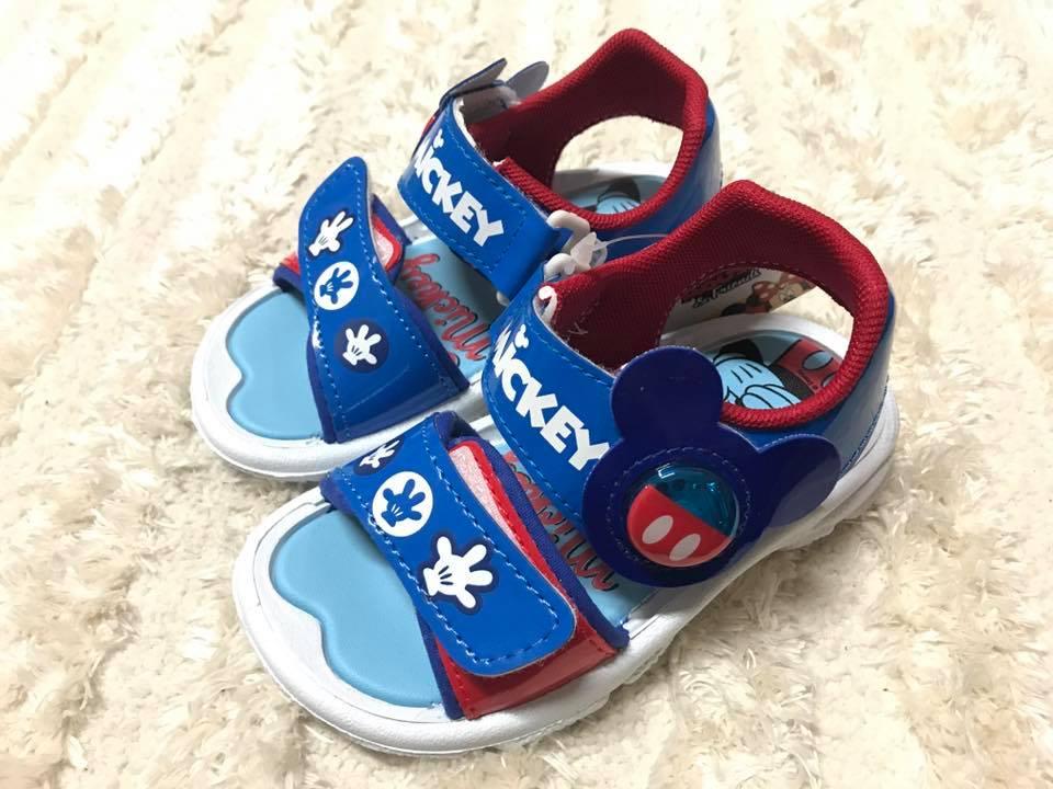 【Jolove】卡通童鞋/DISNEY迪士尼/米奇輕便電燈涼鞋463804 藍色
