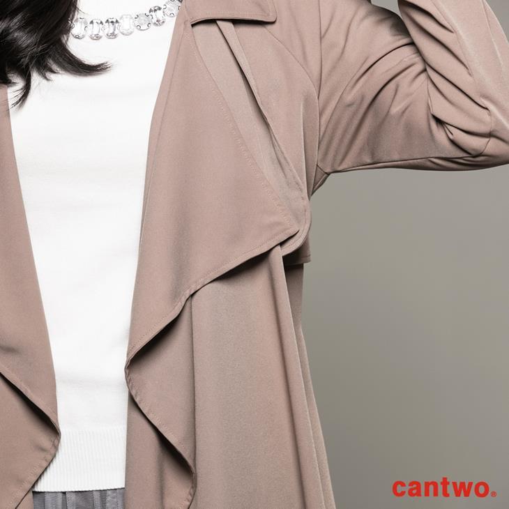 cantwo軍裝風軟料風衣(共二色) 5