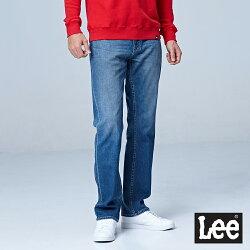 Lee 743中腰舒適直筒牛仔褲-中淺藍色-男款