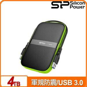 SP廣穎ArmorA604TB黑綠2.5吋軍規防震行動硬碟
