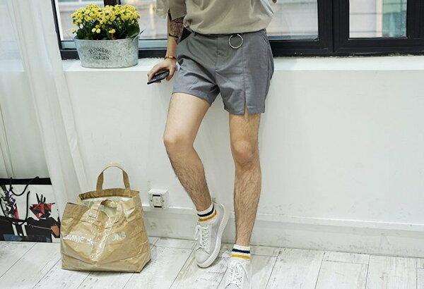 FINDSENSE韓國西裝開口短褲五分短褲西裝褲男推薦款