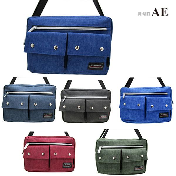 25-1016B【AEDHWA愛德華】麻料雙口袋側背包 (六色)