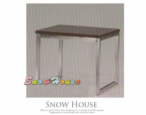 ╭☆雪之屋居家生活館☆╯A384-02 電鍍腳歐式小茶几/餐桌/茶桌/咖啡桌/早餐桌*鐵刀木色