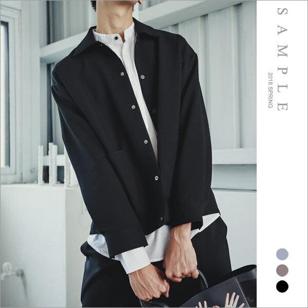 韓國製襯衫式外套厚磅雪訪【OS20225】-SAMPLE