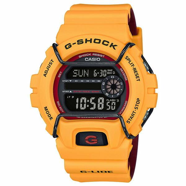 CASIO G-SHOCK GLS-6900-9 G-LIDE系列時尚運動腕錶/黃50mm