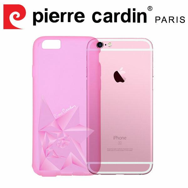 [ iPhone6/6s Plus ] Pierre Cardin法國皮爾卡登3D立體玫瑰TPU透明手機殼 透粉色