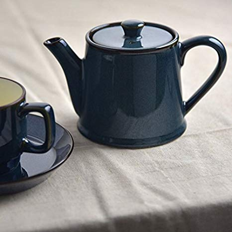 北歐Color/ 美濃燒 藍暖色耐溫陶壺