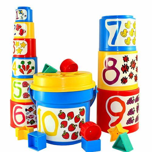 美國【B.Toys】大口疊疊杯/疊疊樂-米菲寶貝