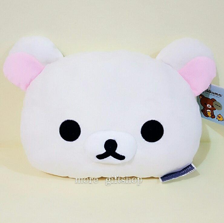 【more 禮品小舖】米白色拉拉熊抱枕(頭型抱枕)、午休枕、靠枕、 絨毛娃娃 玩偶