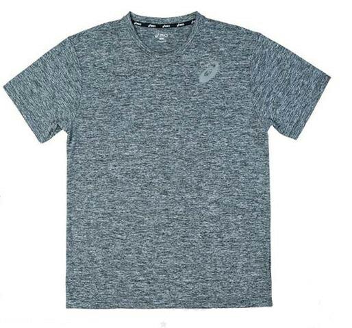 [陽光樂活]ASICS亞瑟士(男女)適穿款GENERAL排汗抗UV短袖T恤-K11606-99灰