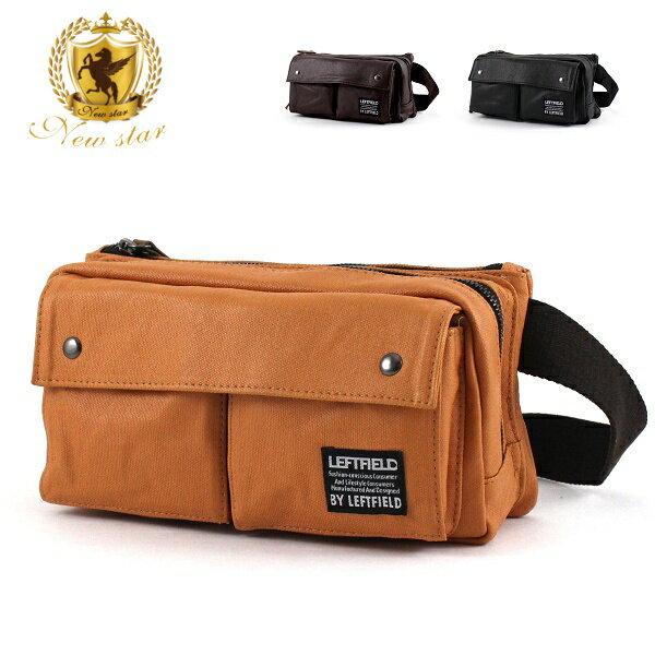 腰包 日系防水 雙口袋雙層側背包斜背包帆布包 NEW STAR BW21