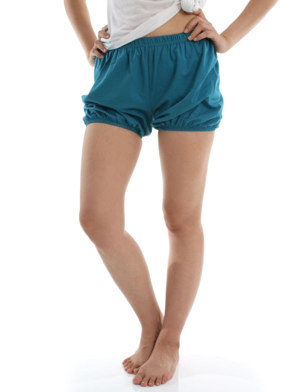 360度全方位防走光! RTBU瑜珈褲~燈籠褲造型。湖綠