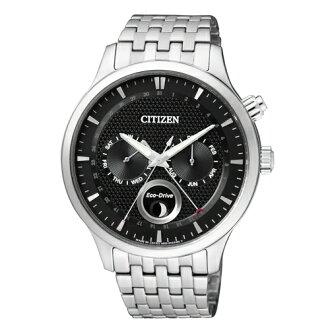 CITIZEN Eco-Drive 簡約時尚經典男腕錶/黑/AP1050-56E