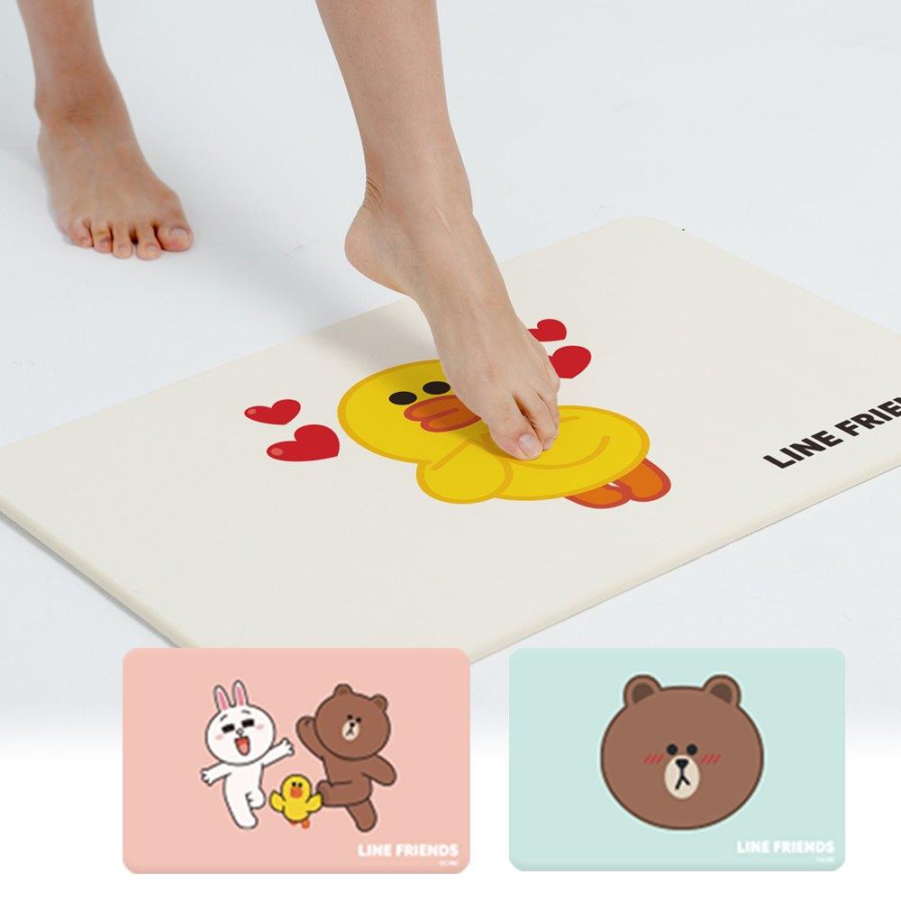 【LINE獨家授權】熊大 / 兔兔 / 莎莉 | 珪藻土吸水地墊 | 腳踏墊杯墊桌墊 1